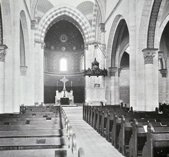 Historische Innenansicht der Erlöserkirche
